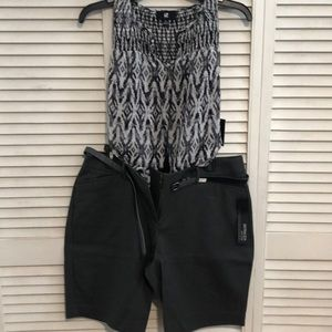 Blouse casual shorts